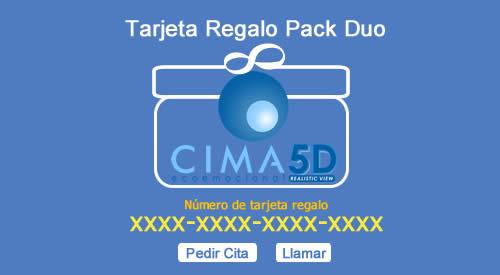 Tarjeta regalo de CIMA 5D pack Duo